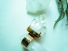 Raw Crystal Point Cluster Ring  Adjustable  Natural by NaturalGlam, $48.00