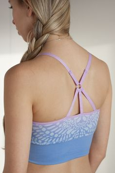 Starry Eyed Cropped Bra by Climawear