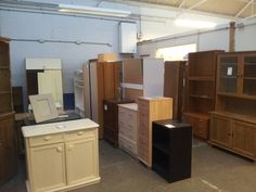 Furniture in the secondhand superstore