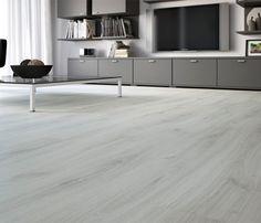 PREMIUM Suelo laminado ROBLE WHITE SILK Bedroom Floor Tiles, Bedroom Flooring, Home Renovation, Home Remodeling, Floor Design, House Design, Grey Flooring, Home Design Plans, New Living Room