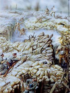 Lucha en las trincheras durante la batalla del Somme. Los soldados alemanes de la imagen todavía no habían tenido la suerte de recibir el Stahlhelm, que se empezó a distribuir en 1916. Más en www.elgrancapitan.org/foro
