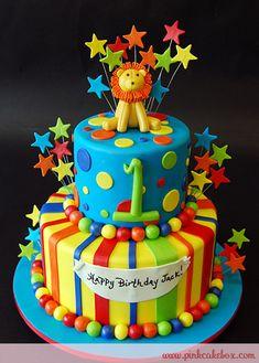 Birthday Lion Cake by Pink Cake Box Lion Birthday, 1st Boy Birthday, Birthday Ideas, Pastries Images, Tiger Cake, Pink Cake Box, Lion Cakes, Circus Cakes, 1st Birthday Cakes