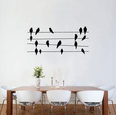 Wall sticker decals - Birds On Wires Wall Stickers wall vinyl decal sticker…
