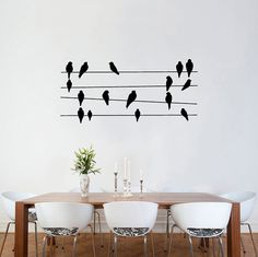 Wall sticker decals - Birds On Wires Wall Stickers wall vinyl decal sticker…