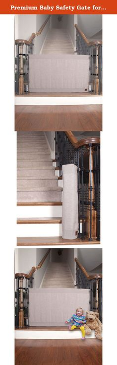 Premium Baby Safety Gate for Staircase. The Stair Barrier is an entirely new brand of safety gate product that offers solutions where there is currently no clear product choice--the bottom of the stairs. The goal is to offer a product that keeps children off the stairs and pets contained to one level of the home. While there are numerous gates designed for between rooms and the top of the stairs, there are no other gates designed specifically for the bottom of the stairs. The stair…