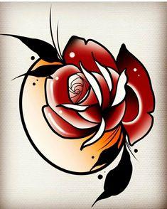 Rose Tattoos, Flower Tattoos, Tattoo Ideas, Tattoo Designs, Snake Tattoo, Tattos, Old School, Japan, Ink