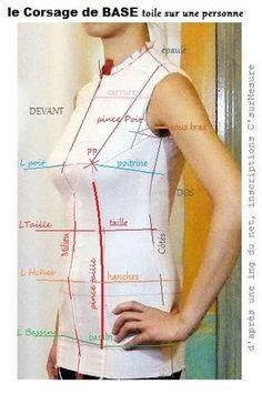 sur personne ( feminine) avec lignes et emplacements pinces.