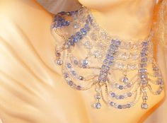 Gorgeous, Jaw-Dropping Runway Blue AB & Clear AB Crystal Drop Choker / Necklace by MarlosMarvelousFinds, $55.00