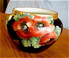 Antique Guerin Limoges porcelain jardinaire for sale at More Than McCoy on TIAS at http://www.morethanmccoy.com
