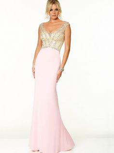 619f0eaa10e5 V-neck Pink Chiffon Formal Dress Evening Dress Prom Dress 2015 Parai 97053  Vestiti. Vestiti Da FestaAbiti ...