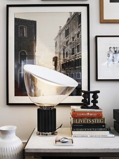 """Flos, """"Taccia Lamp"""" by Achille Castiglioni, it was for the first time produced in 1962 and is now available in our Birmingham showroom. Office Interior Design, Home Interior, Interior And Exterior, Interior Decorating, Modern Interior, Bathroom Interior, Inspiration Design, Interior Inspiration, Home Lighting"""