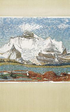 Alois Carigiet 1945 Art And Illustration, Illustrations, Swiss Travel, Travel Posters, Vintage World Maps, Printing, Landscape, Switzerland, Artist