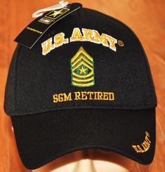 0b483f6dfee US Army E-9 Sergeant Major E9 SGM Retired Hats Officially Licensed