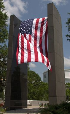 Florida's Vietnam War Memorial (I used to work in that white building in the background. Veterans Memorial, Veterans Day, Memorial Day, Military Veterans, Vietnam Veterans, Vietnam War, American History, American Flag, American Pride