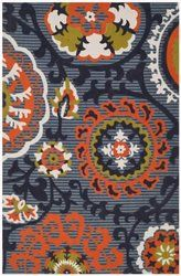 Safavieh Cedar Brook Cdr130a Blue / Orange Area Rug