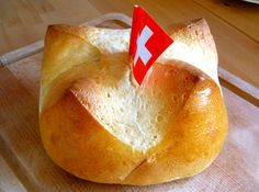 "Swiss Food - 1st of August Buns. Commemorating the founding of the original Swiss Federation by the four ""original cantons"" (1291). I'd call them Four Corner Buns myself!"