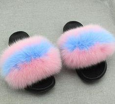 9f46d7774e6 Real Fox Fur Gumball Fur Slides Fur Slides