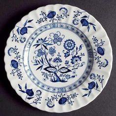Blue Onion Dessert Plate Meakin English Ironstone by kinseysue