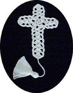 Cross bookmark crochet