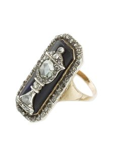 Georgian gold and diamond mourning ring. The Auction Room
