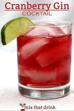 The Cranberry Gin cocktail is one of those amazingly simple, refreshing drink recipes that some bartenders have never heard of. It makes a wonderful change from the vodka cranberry, with hints of juniper. #gincocktails #vodkadrinks