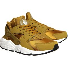 Nike Air Huarache Bronze Sail ($91) ❤ liked on Polyvore featuring home, home decor, bronze home decor and nike