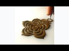 How to Draw Different Style Roses Design with Henna Mehndi Cone Tutorial for Beginners - YouTube