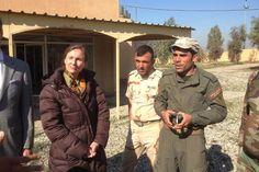 Ambassadeur Jeanette Seppen tijdens haar bezoek aan Erbil. Foto: Ministerie van Defensie