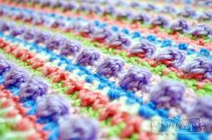 Sugar Love Crochet Baby Blanket - Free Pattern at My Merry Messy Life
