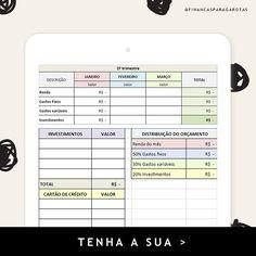 Uma boa planilha de controle financeiro faz toda a diferença!📈 📌 E você pode ter a nossa planilha exclusiva! Saiba como em: financasparagarotas.com.br  #finançasparagarotas #planilha