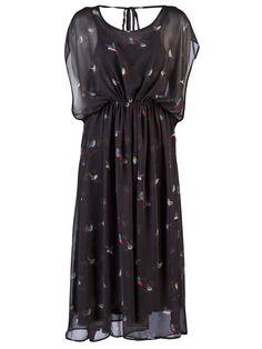 D.Ra Bird Print Dress $195