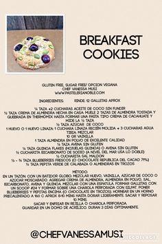 Mis nuevas Breakfast cookies ideales para un desayuno! #glutenfree #veganas