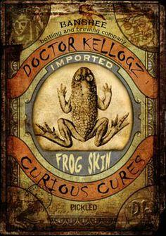 Samain:  Doctor Kellogz: Frog Skin label, for #Samain.