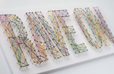 Cool new take on string art. Make signs for the teen department or let teens make them for their bedrooms..