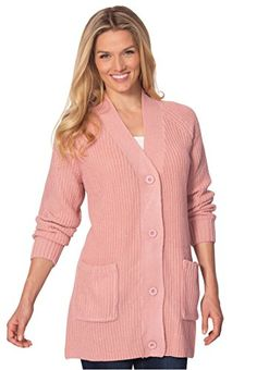 Women's Cardigans - Womens Plus Size Cardigan In Shaker Knit ** Be sure to check out this awesome product.