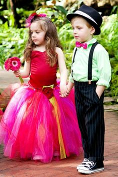 Flower Girl Tutu (in yellow) ring bearers in bow ties!!!!!