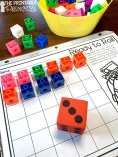 Ready to Roll! FREEBIE! This is such a fun and easy math activity using a dot…