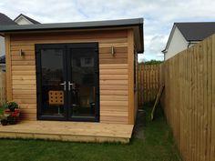 Small Garden Office, Backyard Office, Backyard Bar, Outdoor Office, Outdoor Garden Sheds, Backyard Sheds, Mini Shed, Contemporary Garden Rooms, Back Garden Design