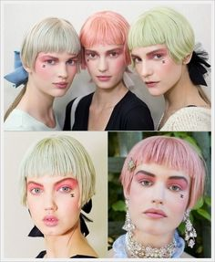 #Punk Inspired #Marie Antoinette #Chanel Versailles Resort 2013 Backstage Beauty