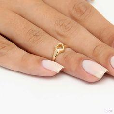 Lilac Acessórios - Anel de Falange Coração Vazado Dourado Brincos, Colares, Pulseiras, Anéis, Bolsas. Semi Jóias e Bijoux - Moda Feminina