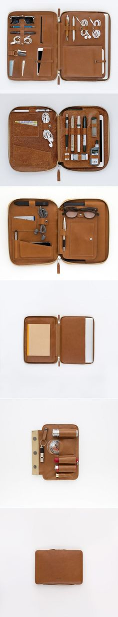 Weve taken the same modular system that was originally developed for the Mod Tablet and applied it to the Mod Laptop. The case uses our signature toffee primo leather. The inside pockets and slots were designed to hold all your creative gear as the perfect mobile office. The cases leather will age mold nicely based on what how you carry - making your Mod uniquely yours. Here are a few of the things you can stow::