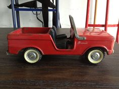 Vintage Nylint Jeep Ford Bronco N 8200 Red Pressed Steel Truck Car Toy | eBay- for bookshelf