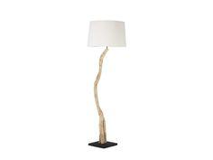 Stehlampe-Fire-Treibholz