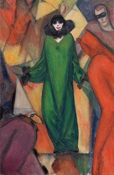 Albert Bloch (1882-1961) Amerikaanse schildder. Hij verdiende de kost als illustrator voor een politieke weekblad. Tot 1921, woonde en werkte hij voornamelijk in Duitsland, en vestigde zich in München, dan is een bloeiend kunstcentrum. Hij ontmoette Kandinsky en Franz Marc, die beiden nodigde hem uit om deel te nemen aan de eerste tentoonstelling van Der Blaue Reiter (de Blauwe Ruiter). Met zijn bijdrage van zes schilderijen, Bloch was de enige Amerikaan vertegenwoordigd in de…