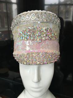 Love Khaos Custom Hats  glitter rhinestone princess burning man marching band hat
