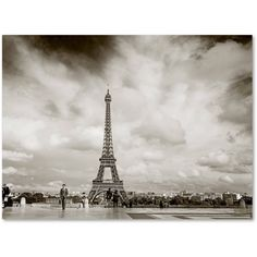 Trademark Fine Art Paris Eiffel Tower and Man Canvas Art by Preston, Size: 24 x 32, Multicolor