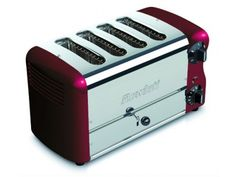 Rowlett Esprit 4 Slice Double Brunch Toaster in Claret - Toasters - Electronics