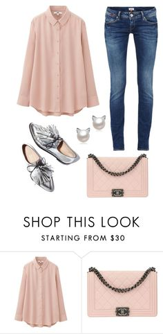 """""""Untitled #1496"""" by christawallace on Polyvore featuring Uniqlo, Loeffler Randall and Chanel"""