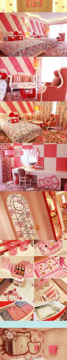 Hello Kitty Theme hotel suite @ Lotte Jeju hotel in south korea.