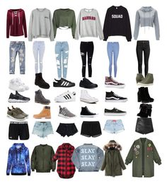 """"" by monstah1901 on Polyvore featuring Timberland, Converse, adidas, Vans, NIKE, Topshop, Abercrombie & Fitch, New Look, Hogan and Miss Selfridge"